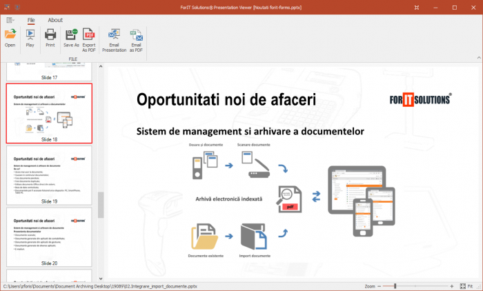 ForIT Solutions® Office Presentation Viewer